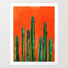 Column Cactus Art Print