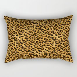 Chic Leopard Fur Fabric Rectangular Pillow