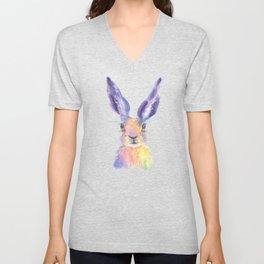 Rainbow Hare Unisex V-Neck