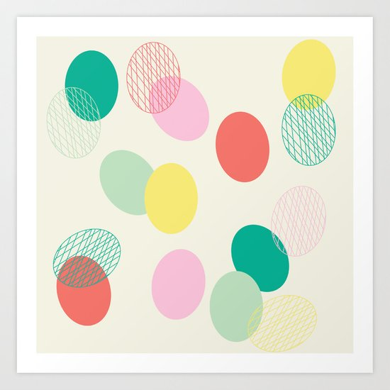 Easter Eggs Art Print