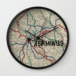 Terminus Map Wall Clock