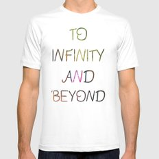 to infinity and beyond MEDIUM Mens Fitted Tee White