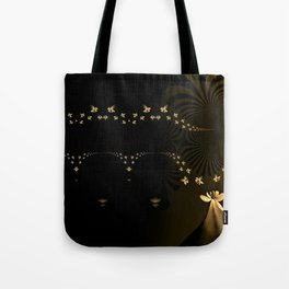 Daisy Delight Cream and Brown Tote Bag