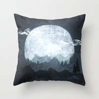 moonrise Throw Pillows featuring Moonrise by Tracie Andrews