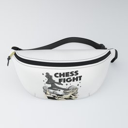 Chess Fight Chess Player Gift Chessboard Fanny Pack