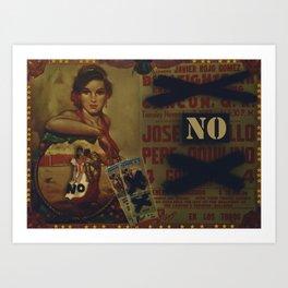 No Bullfighting Art Print