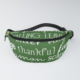 Fall Celebration - Green Fanny Pack