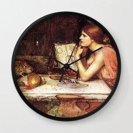 John William Waterhouse Sketch of Circe 1911 Wall Clock