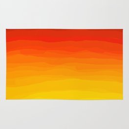 Red to Yellow Sunset Rug