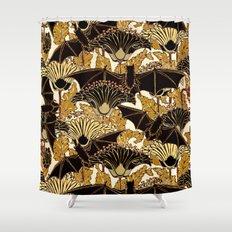 Art Nouveau Bats and Flowers Shower Curtain
