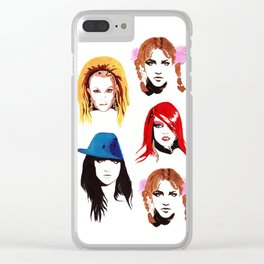 Britney Spears Look Book Clear iPhone Case