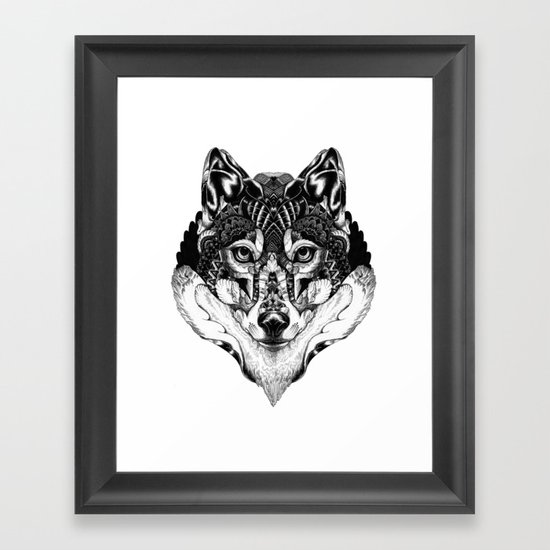 Wolf Head Framed Art Print