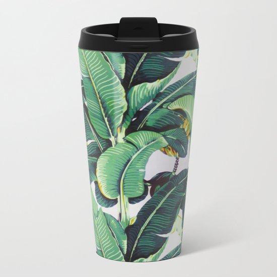 Banana Leaves Metal Travel Mug