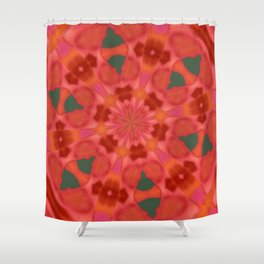 Succulent Red and Yellow Flower Abstract 3 Shower Curtain