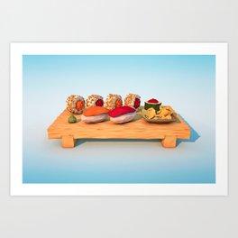 Jiro and Friends Art Print