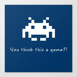 Invader Games Canvas Print