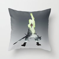 dragon age inquisition Throw Pillows featuring Dragon age inquisition by Ioana Muresan