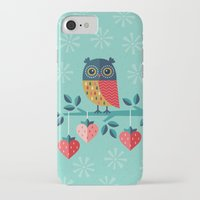 jazzberry iPhone & iPod Cases featuring OWL ALWAYS LOVE YOU by Daisy Beatrice