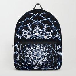 Indigo Glowing Spirit Blue & White Flower Mandala Backpack