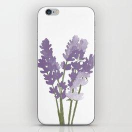 Watercolor Lavender iPhone Skin