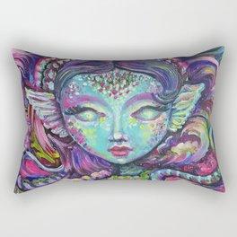 Indigo Mermaid Explore - Kids, fantasy, mermaids by Lana Chromium Rectangular Pillow
