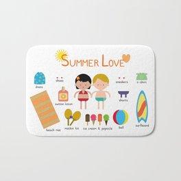 Summer Love Bath Mat