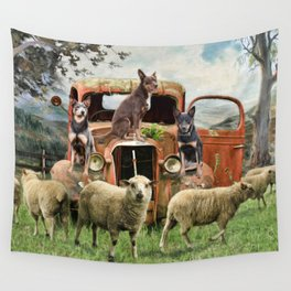 Kelpie Life Wall Tapestry