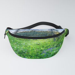 Rainier Wildflowers - Mt. Rainier in the Fall at Reflection Lake Fanny Pack