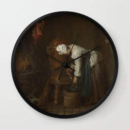 Jean-Baptiste-Simeon Chardin - La Fontaine (The Water Cistern) Wall Clock