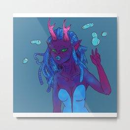 Coral Horned Cutie Colab Metal Print