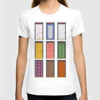 doors T-shirts featuring Scary Doors by Raquel Segal