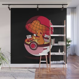 Red Pokehouse  Wall Mural