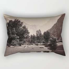 Distant View of the Domes, Yosemite Valley, California Rectangular Pillow