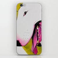 bull terrier iPhone & iPod Skins featuring Bull Terrier by Erin Shea