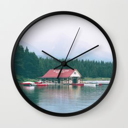 Maligne Lake Wall Clock