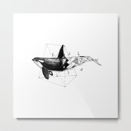 Geometric Season1:1 Whale Metal Print