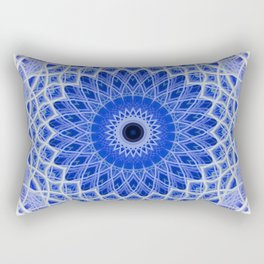 Mandala in blue and white colors Rectangular Pillow