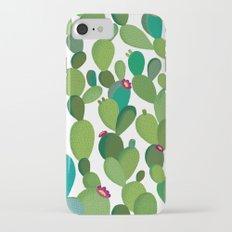 Cactus with flowers iPhone 7 Slim Case