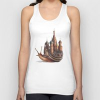 morning Tank Tops featuring The Snail's Daydream by Eric Fan