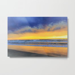 Mood at the Beach by Reay of Light Photography Metal Print