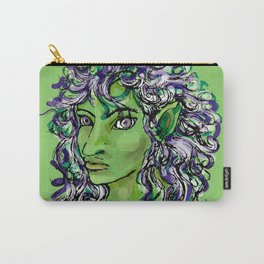 Female elf profile 1e Carry-All Pouch