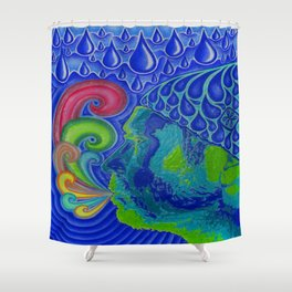 Exhale Shower Curtain