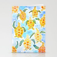 turtles Stationery Cards featuring Turtles by Julie Lehite