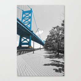 Ben Franklin Bridge-Race Street Pier Philadelphia Canvas Print