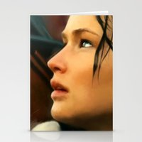 katniss Stationery Cards featuring Katniss by Kate Dunn