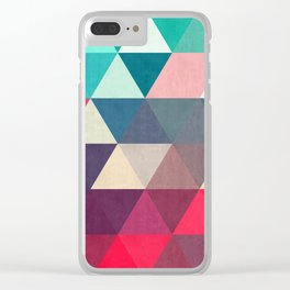 Modern triangular composition VII Clear iPhone Case