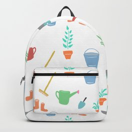 simple Garden Theme digital painting Backpack