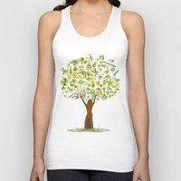 tree of life Tank Tops featuring Life tree by Michelle Behar