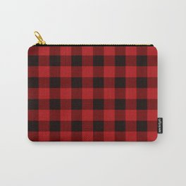 Red Buffalo Plaid Carry-All Pouch