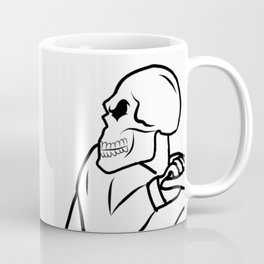 Skull Skeleton on Motorcycle Coffee Mug